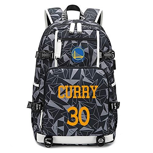 Haoshangzh55 Baloncesto Deportes Mochila Golden State Warriors Stephen N. ° 30 · Curry Los Aficionados De Baloncesto Poliester Al Aire Libre Mochila Estudiante Tienda De Hombres Y De Mujeres