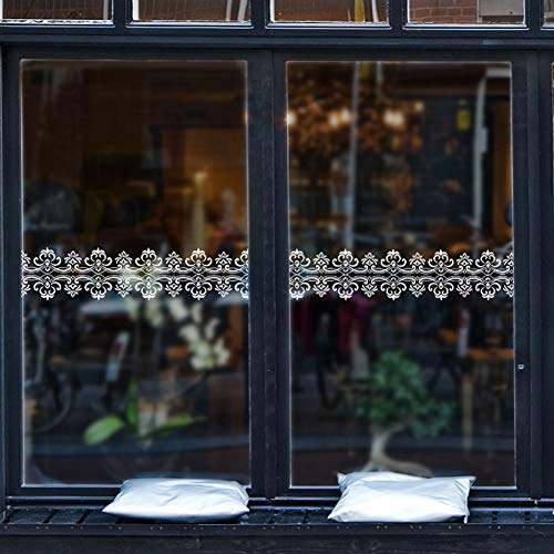 Wandaufkleber Dekorative Aufkleber Wand Dekoration Wandbilder Europäischen Weiß Spitze Fenster Glas Aufkleber Kaffee Shop Edle Blume Spitze Spiegel Wand Aufkleber Kleidung Shop Fenster Dekor