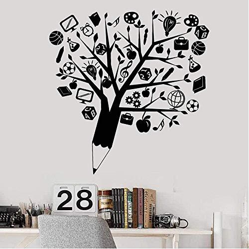 Wanddekoration Abziehbilder Für Wände Die Wand Vinyl Home Küche Dekor Geschenkliebhaber Wandkunst Aufkleber Für Wohnzimmer Wasserdichter Kreativer Bleistiftbaum 57X58Cm