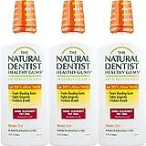 The Natural Dentist Healthy Gums Mouth Wash, Orange Zest, 16.9 Ounce Bottle (Pack of 3)