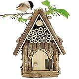 Hamiledyi Wooden Bird Nest Hanging Birdhouse...