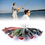 5 señuelos de pesca biónicos al aire libre de cebos de pesca Plopper señuelos de pesca Topwater Plopper Bass Crankbaits Bass Flotantes Plopper señuelos
