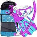 U.S. Divers Dorado Mask, Proflex Fins and Sea Breeze Snorkel Combo Set