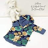 Wende oder Winter Jacke Blumen Navy Grün/Jeansblau meliert Baby Mädchen
