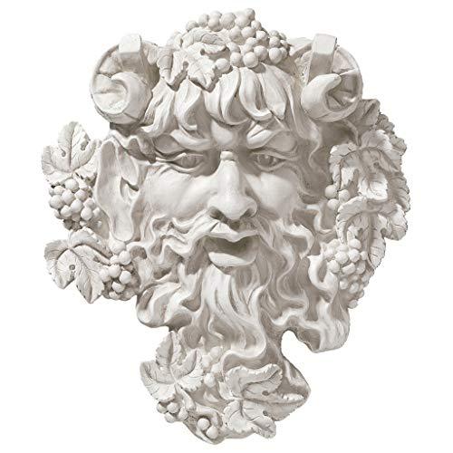 Design Toscano Bacchus, Gott des Weines: Blattmaske, Wandskulptur