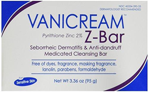 Vanicream Z-Bar (Pyrithione Zinc 2%) Medicated Cleansing Bar