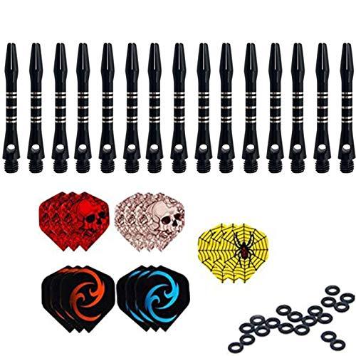 ToBeIT 15pcs Dart shafts Dartpfeil-Schäfte schwarz Dart Flights Dart gummiringe Dartzubehör (schwarz 15pcs/3.5cm)