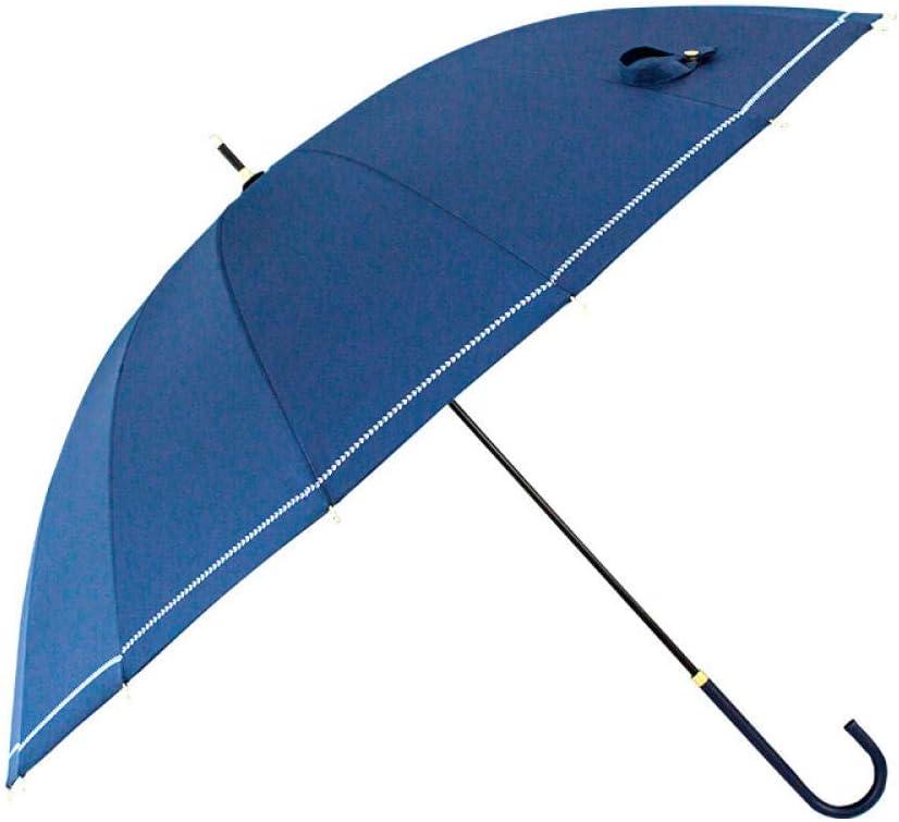 YSCY Portable/Umbrella Long Handle Umbrella 16 Bone Solid Color Simple Sen Umbrella Student Retro Long Handle Umbrella Radiation/Protection,/UV/Protection,/Rust/Prevention,/Wind/Protection.
