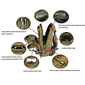 51RcGcbwGXL. SS300  - Jian Ya Na - Mochila táctica Militar para Senderismo al Aire Libre, Senderismo, Acampada, táctica, Bolsa de Viaje táctica, 25 L