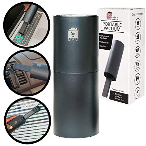 Cordless Mini Vacuum Cleaner - USB Rechargable Lithium Battery Handheld Vacuum Sucking and Blowing for Cleaning Dust, Car, Laptop, Piano, Computer Keyboard, Desk, Hairs and Crumbs (Compact)
