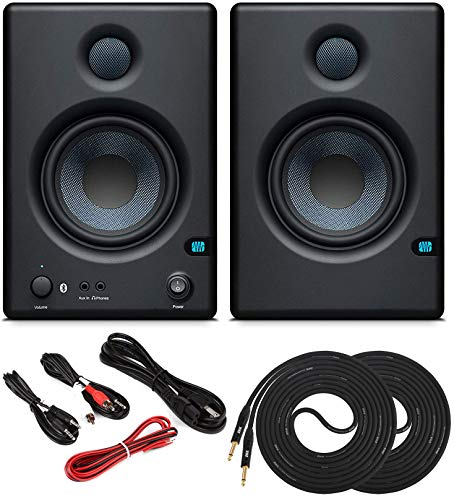 Great Features Of PreSonus Pair ERIS E4.5 BT 4.5 Active Bluetooth Media Reference Monitors with Ster...