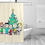 Badezimmer Duschvorhang Snoopy & Fre&e Weihnachten Home Decor Duschvorhänge mit Haken 60 'X 72'