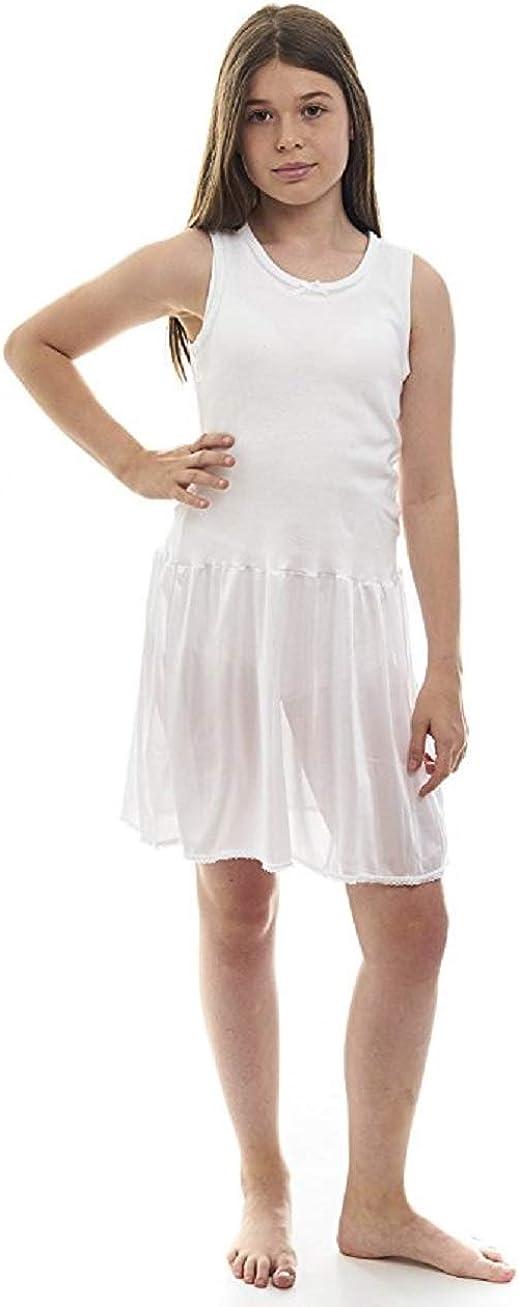 Rosette Girls Antistatic White Classic Full Slip