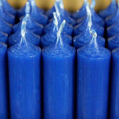 Bütic GmbH durchgefärbte Stabkerzen 180mm x 22mm - hochgereinigte Kerzen mit rückstandsfreiem Abbrand, Farbe:Blau, Set mit:8 Stück