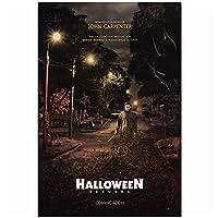 Lefgnmyi ハロウィーンリターンローリーストロードホラー2018映画フィルムカスタムポスターアートキャンバスホームルームウォールプリント装飾-20x28INフレームなし