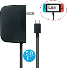 Whiteoak Switch AC Adapter Support TV Mode for Nintendo Switch Type-C USB PD Fast Travel Wall Charger with Cable Length: 5ft / 1.5 Meter, Output: 5.0V - 1.5A / 15.0V - 2.6A