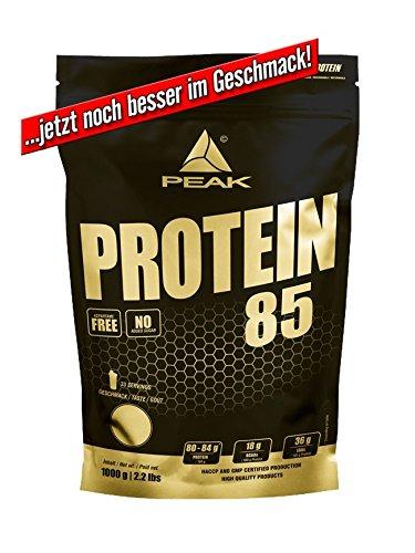 PEAK Protein 85 Banana 1000g | Premium Mehrkomponenten Protein mit Aminos |