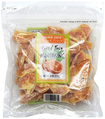 Trader Joe's Dried Fruit Soft & Juicy Mandarins 6 Oz, (Pack of 3)