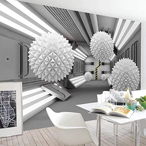 FTFTO Muebles de renovación del hogar Papel Tapiz Mural Personalizado 3D Bola Tridimensional Espacio arquitectónico Abstracto Mural Sala de Estar Estudio Decoración Creativa