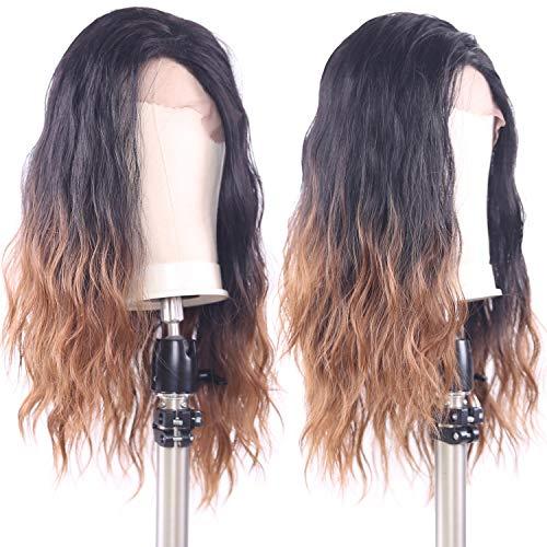 X-TRESS Long Wavy Synthetic Lace front wigs Glueless Synthetic Free Part wig 22 Inches Lace Front Wavy Wigs For Black Women (TT2/30)