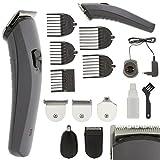 Eurosell Akku Titan Herren Damen Haarschneider Haarschneidemaschine Set + Aufsätze + Rasierer + Nasenhaar Trimmer Haar Schneide Maschine Cutter