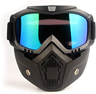 EKIND Tactical Mask,  Retro Motorcycle Goggles with Removable Face Mask,  Safety Goggles Mask UV400 Protection for Nerf N-Strike Elite Toy Gun Game Rival Ball