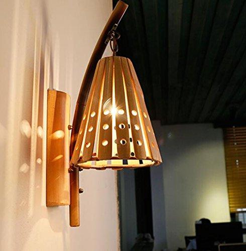 Bambou Applique Murale Lampe Simple Creux Bambou Creative Original Lampe Restaurant Bar Hôtel Bambou Bambou Lampe 48 * 20 Cm