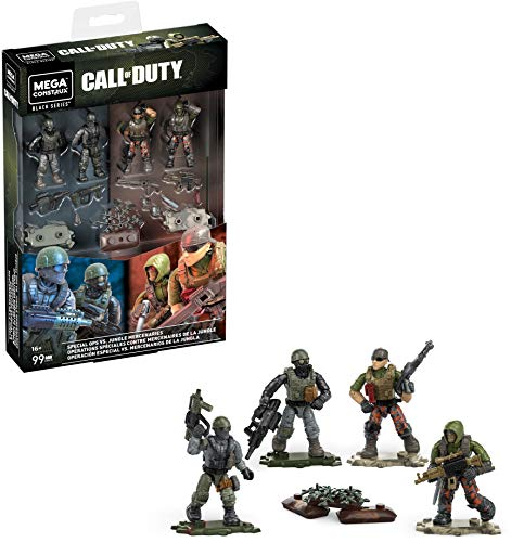 Mega Construx Special Ops vs Jungle Mercenaries Call of Duty Collectible Character Buildable Micro Action Figure