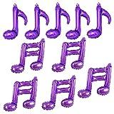 10Pcs Note Foil Balloons Music Theme Party Decorations,Foil Mylar Balloon Party purple