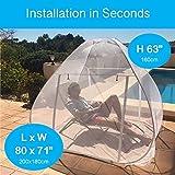 EVEN NATURALS Popup MOSKITONETZ Zelt, großes Mückennetz für Doppelbett, feinste Löcher, Camping Netz, Faltdesign mit Unterseite, 2 Einträge, einfache Installation, Tragetasche, Keine Chemikalien - 4