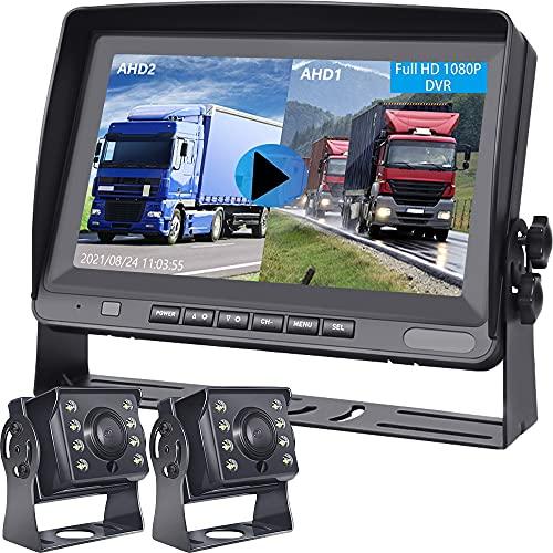 Hodozzy Backup Camera 8 Inch Dual Split Screen...