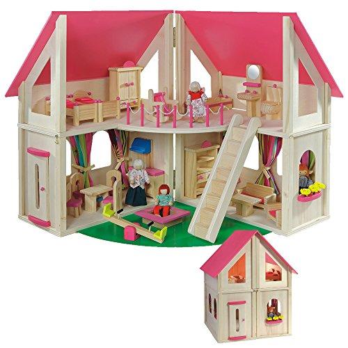 howa - Casa de muñecas con 21 piezas de...