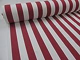 Confección Saymi Metraje 3,45 MTS. Tejido Lona acrílica, Raya Roja, con Ancho 3,20 MTS.