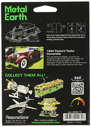 Fascinations Metal Earth 1934 Packard Twelve Convertible 3D Metal Model Kit