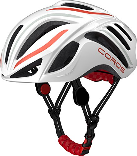 COROS Linx Casco, Unisex Adulto, Blanco y Naranja, Medium