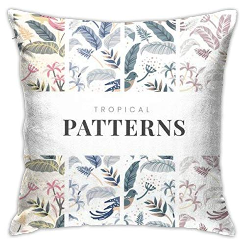 pingshang Pastel Birds Nature Pillowcase, Double-Sided Printing, Hidden Zip Pillowcase, 18inch18inch Beautiful Printed Pattern P.
