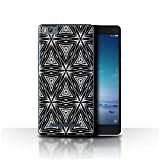 Phone Case for Xiaomi Mi 4C Black Fashion Abstract Shapes