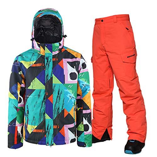 Skipak, heren, 2-delig, broek, ski, snowboard/jas, winddicht, ademend, skiën, snowboarden, outfit, kleding, jumpsuit sets, take off.