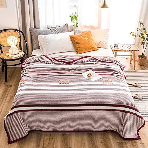 PengMu deken van zachte microvezel, warm, dikke koraal kan niet toegestaan worden om rode strepen van de wijn van de bol te verlichten om je bank, bank of bed te verlichten.