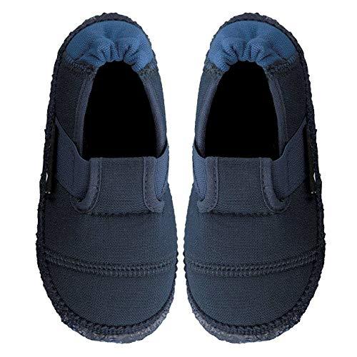 Nanga Kinder - Unisex Hausschuhe Klette blau 31