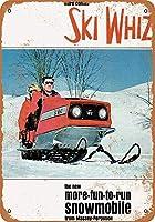 Shimaier 壁の装飾 ブリキ 看板メタルサイン 1969 Massey-Ferguson Ski Whiz Snowmobile ウォールアート バー カフェ 30×40cm ヴィンテージ風 メタルプレート