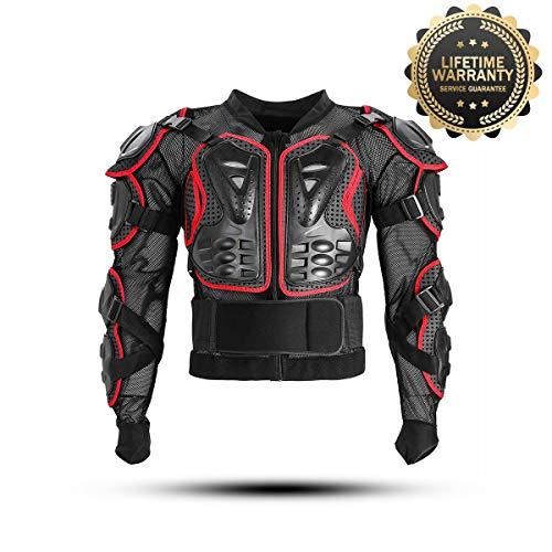 KINGUARD Chaqueta de Moto Chaqueta Protectora Cuerpo Armadura Profesional de...