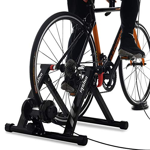 Unisky Rodillo para Bicicleta Rodillo Magnético Bicicleta para Entrenamiento con Control de Alambre a 6 Velocidades para Ruedas de 26'-29' o 700C Bicicletas de Montaña y de Carretera