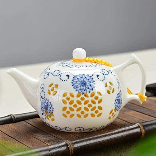 ZQADTU Tetera con colador Tetera de Porcelana Azul y Blanca de cerámica Exquisita Tetera vacía Juego de té de Tetera