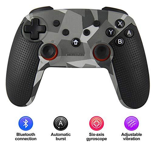 Radiancy Inc Bluetooth Gamepad, Wireless Bluetooth Game Controller Gamepad Joystick Wireless Game-Controller für Switch/PC / PS3 / Android,Schwarz