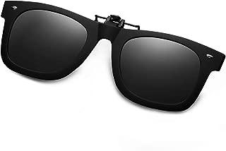 WELUK Polarized Clip On Flip Ups Sunglasses TR90 Frame UV400 Driving
