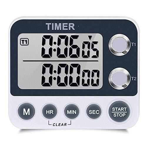 XYXZ Temporizador De Cocina Temporizador De Cocina Digital Pantalla Grande Alarma Fuerte Cuenta Atrás para Cocinar Juegos Deportivos para Hornear