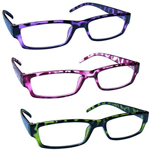 The Reading Glasses Company Gafas De Lectura Púrpura Rosa Verde Ligero Cómodo Lectores Valor Pack 3 Hombres Mujeres Rrr32-546 +1,50 3 Unidades 88 g