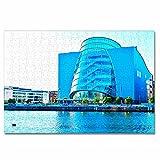 Irlanda Dublín Rompecabezas para Adultos, 300 Piezas, Rompecabezas de Madera para niños, Regalo de Viaje, Recuerdo, 16.5 × 12 Pulgadas
