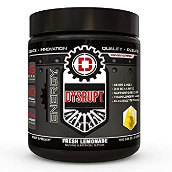 DYSRUPT BCAA + Caffeine with Electrolytes Sugar & Gluten Free Supplement- Improve Recovery Burn More Fat Increase Endurance and Achieve Greater Focus Fresh Lemonade